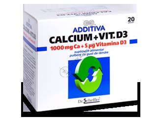 Аддитива Кальций и Витамин Д3