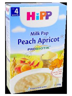 HIPP Terci pe lapte cu prebiot.(piersic,caise) (4 luni)