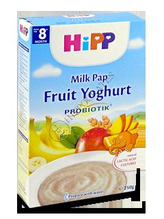 HIPP Terci pe lapte cu prebiotic. (fructe si iaurt) (8 luni)