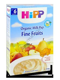 HIPP Terci pe lapte, fructe fine (griu si gris) (6 luni)