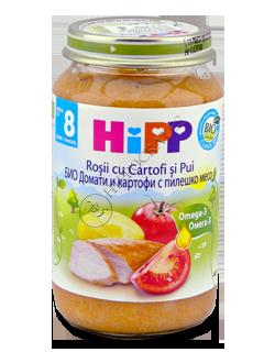 HIPP Piure pui cu cartofi si rosii (8 luni)