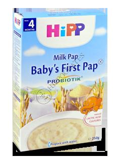 HIPP Terci pe lapte cu prebiot.(porumb,orez,vanilie) (4 luni)