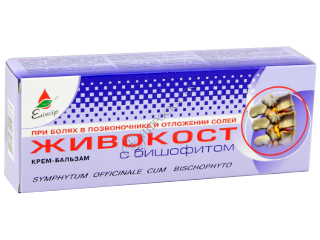 Eliksir JIVOKOST (Tataneasa) crema-balsam cu bishofite la dureri in coloană vertebrală