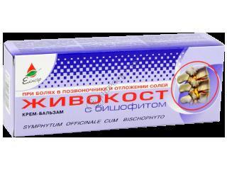 Eliksir Jivocost (Tataneasa) crema-balsam cu bishofite la dureri in coloană vertebrală