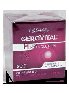 Геровитал H3 Evolution интенсивно увлажняющий дневной крем против морщин SPF 10 (45+) 50 мл