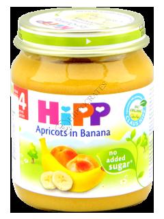 HIPP Piure de fructe, Caise cu banane (4 luni)