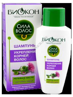 Биокон Сила Волос Реп.Масло шампунь для укрепления корней волос