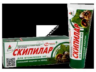 Eliksir Skipilar crema-gel pentru picioare obosite cu castane si coada-calului