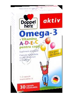 Доппельхерц Омега-3 + Вит. A+D+E+C (для детей)