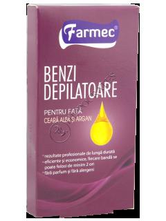 Farmec benzi depilatoare pentru fata (10 benzi+2 servetele)