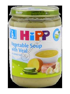 HIPP Piure Supa de legume cu carne de curcan