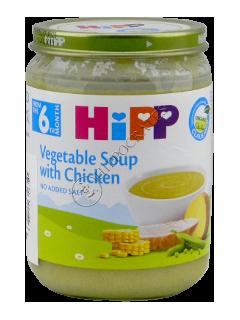 HIPP Piure Supa de legume cu carne de pui