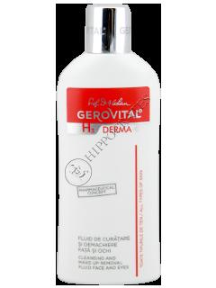 Gerovital H3 Derma+ fluid de curatare si demachiere fata si ochi
