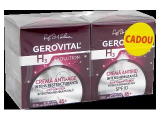 Gerovital H3 Evolution Pachet Promo Anti age (45+)crema intens rest. de zi+antirid intens hidr.SPF15