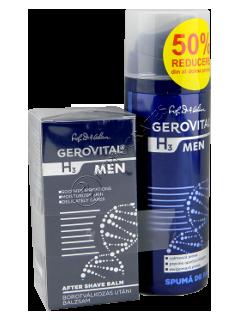 Gerovital H3 Men Pachet Promo balsam dupa ras +spuma de ras