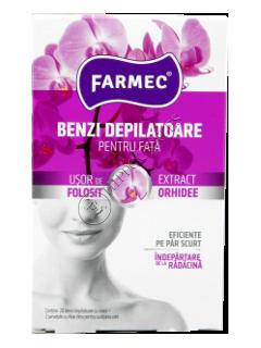 Фармек депиляционные полоски для лица с экстрактом орхидеи (20 полосок+2 салфетки)