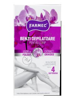 Farmec benzi depilatoare pentru corp extract de orhidee