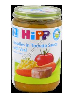 HIPP Piure taietei in sos de tomate cu carne de vitel
