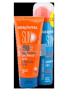 Gerovital Sun Pachet promo Crema protectie solara SPF50+Lotiune spray 3 in 1 dupa plaja
