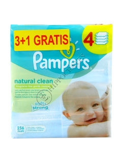 Pampers Baby Naturally Clean servetele umede cu musetel  № 64 3+1