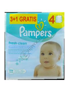 Pampers Baby Fresh Clean Aloe servetele umede ptr copii № 64 3+1
