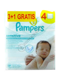 Pampers Baby Sensitive servetele umede № 56 3+1