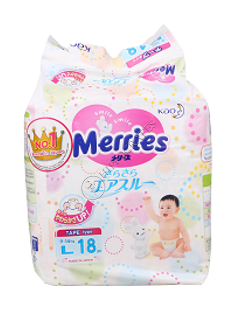 MERRIES Size L №18 9-14kg (Small) scutece