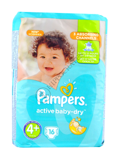 Pampers MAXI+ 4+ (10-15kg)  № 16