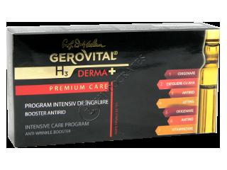 Геровитал H3 Derma+ Premium Care интенсивная программа против морщин 7 амп.