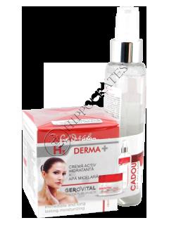 Геровитал H3 Derma+Промо пакет увлажняющий активный Крем, 50 мл + мицеллярная вода 150 ml