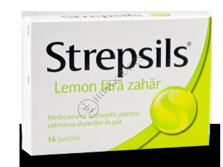 Стрепсилс лимон без сахара